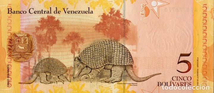 Billetes extranjeros: VENEZUELA 5 BOLIVARES 2007 156 x 69 milímetros C43113015 - Foto 2 - 198282161