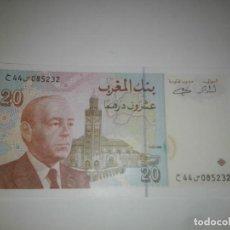 Billetes extranjeros: BILLETES - MOROCCO-MARRUECOS - 20 DIRHAMS 1998 CIRCULADO. Lote 198362101