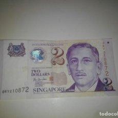 Billetes extranjeros: SINGAPORE BILLETE DE 2 DOLLARS USADO. Lote 198363491