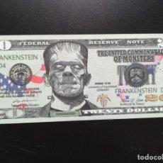 Billetes extranjeros: USA (5 BILLETES DE FANTASÍA) REPÚBLICA UNIDA DE LOS MONSTRUOS. Lote 198981802