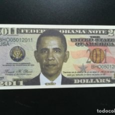 Billetes extranjeros: USA (BILLETES DE FANTASÍA) PRESIDENTE BARAK H. OBAMA. Lote 198984057