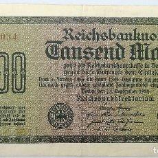 Billetes extranjeros: BILLETE ALEMANIA. 1922. 1000 MARCOS. REPÚBLICA DE WEIMAR. MBC. Lote 199065623