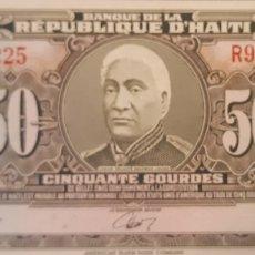 Billetes extranjeros: HAITI 50 GOURDES P249A 1986 NUEVO UNC SC. Lote 199074466