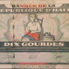 Billetes extranjeros: HAITI 10 GOURDES P265A 2000 NUEVO UNC SC. Lote 199074531