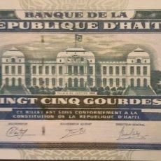 Billetes extranjeros: HAITI 25 GOURDES P266E 2014 NUEVO UNC SC. Lote 199074603