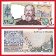 Billetes extranjeros: ITALIA 2000 LIRAS 1983 GALILEO GALILEI PICK 103C - SC. Lote 58682316