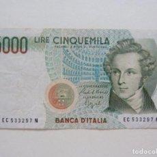 Billetes extranjeros: ITALIA. BILLETE DE 5.000 LIRAS. 1985. Lote 227257495