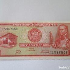 Billetes extranjeros: PERU * 10 SOLES DE ORO 1968 * SC. Lote 199668103