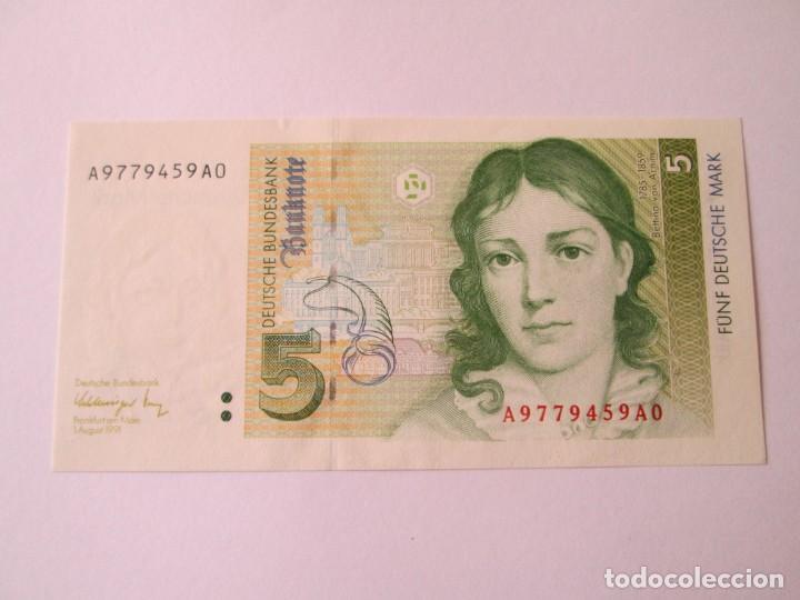 ALEMANIA * 5 MARCOS 1991 * SC (Numismática - Notafilia - Billetes Extranjeros)