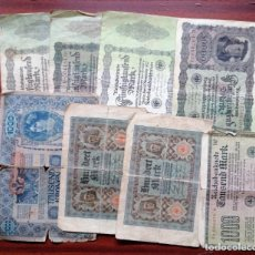 Billetes extranjeros: LOTE DE 8 BILLETES EXTRANJEROS (MARCOS ALEMANES Y CORONAS AUSTROUNGARAS). REICHSBANKNOTE. UNGARISCHE. Lote 199705075