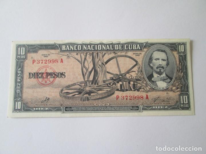 CUBA * 10 PESOS 1960 * FIRMA DEL CHE * SC (Numismática - Notafilia - Billetes Extranjeros)