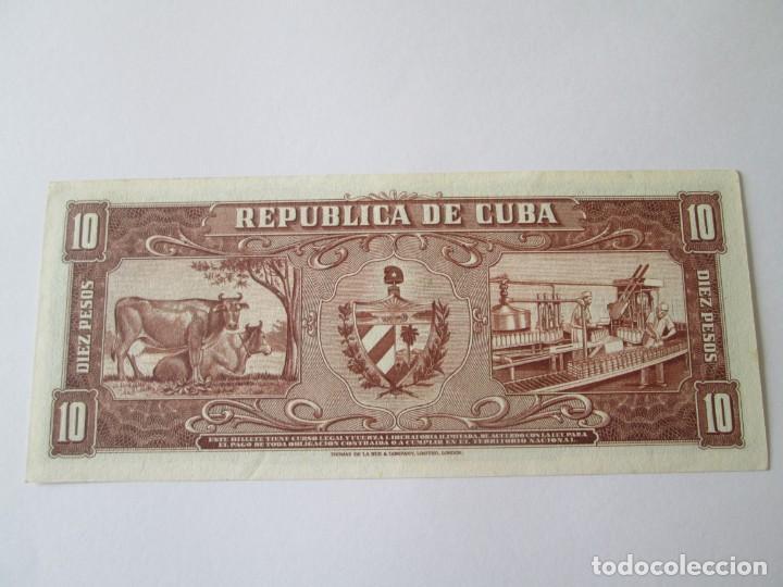 Billetes extranjeros: CUBA * 10 PESOS 1960 * FIRMA DEL CHE * SC - Foto 2 - 199711152