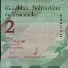 Billetes extranjeros: 10 BILLETES VENEZUELA 2 BOLÍVARES 2018 SERIE H SC. Lote 199744718