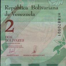 Billetes extranjeros: 10 BILLETES VENEZUELA 2 BOLÍVARES 2018 SERIE H SC. Lote 199745056
