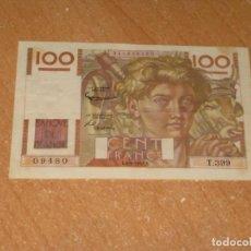 Billetes extranjeros: BILLETE CENT FRANCS 1951. Lote 199941565
