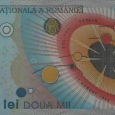 Notas Internacionais: RUMANIA 2000 LEI 1999 ECLIPSE S/C. Lote 200358632