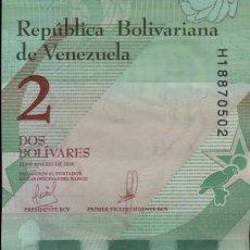 Billetes extranjeros: VENEZUELA 2 BOLÍVARES 2018. Lote 200370622