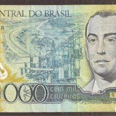 Notas Internacionais: BRASIL. 100000 CRUZEIROS (1985). PICK 205.. Lote 201217601