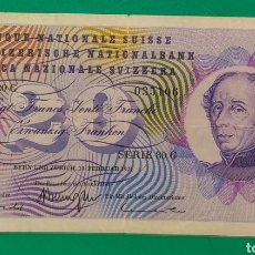Billetes extranjeros: SUIZA. 20 FRANCOS DE 1971.. Lote 201264043