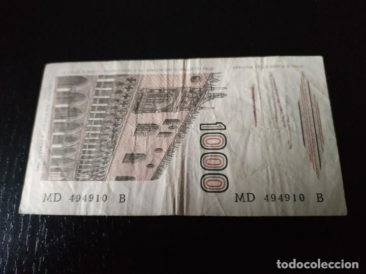 Billetes extranjeros: Billete 1000 liras. Italia. 1982 - Foto 2 - 201279080