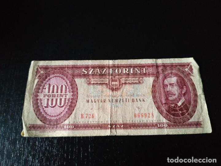 BILLETE DE 100 FORINTOS HÚNGAROS. 1983? (Numismática - Notafilia - Billetes Extranjeros)