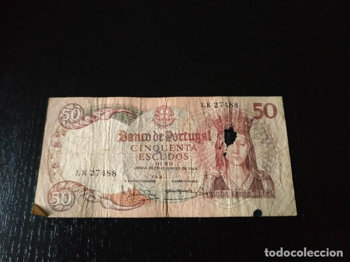 50 ESCUDOS. PORTUGAL. 1964 (Numismática - Notafilia - Billetes Extranjeros)