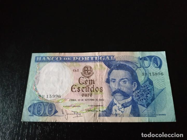 BILLETE 100 ESCUDOS. PORTUGAL. 1965 (Numismática - Notafilia - Billetes Extranjeros)
