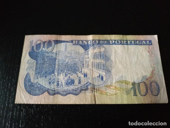Billetes extranjeros: Billete 100 escudos. Portugal. 1965 - Foto 2 - 201472808