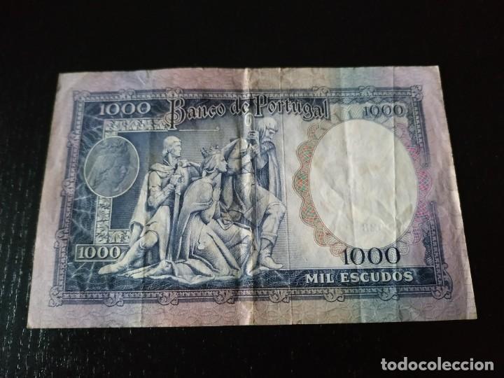Billetes extranjeros: Billete de 1000 Escudos. Portugal. 30 de Mayo de 1961. Muy difícil. - Foto 2 - 201474055