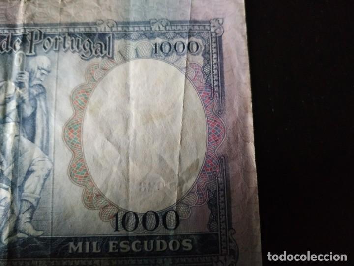 Billetes extranjeros: Billete de 1000 Escudos. Portugal. 30 de Mayo de 1961. Muy difícil. - Foto 3 - 201474055