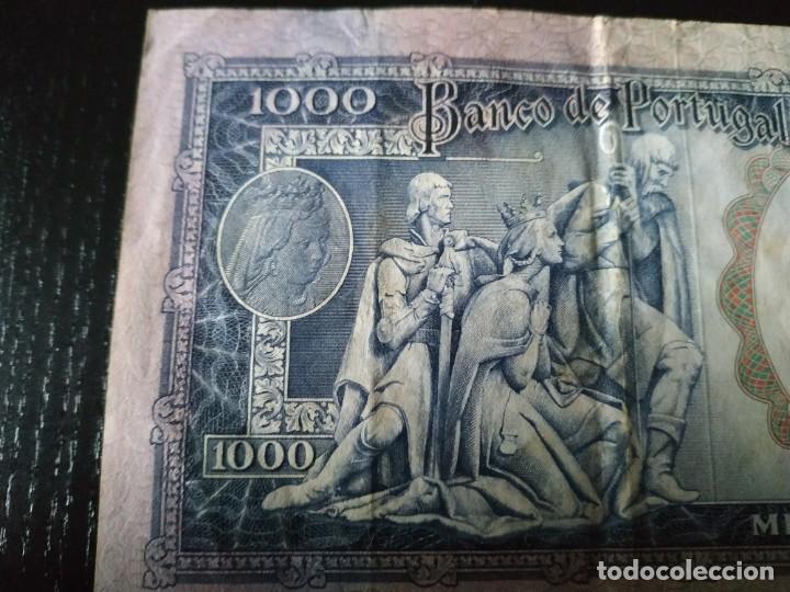 Billetes extranjeros: Billete de 1000 Escudos. Portugal. 30 de Mayo de 1961. Muy difícil. - Foto 4 - 201474055