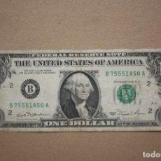 Banconote internazionali: ESTADOS UNIDOS - 1 DOLAR 1981 - LETRA B . Lote 201955985
