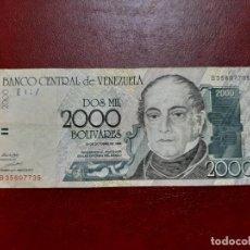 Billetes extranjeros: BILLETE VENEZUELA 1998 EL DE LA FOTO. Lote 202434636