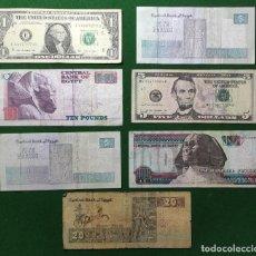 Billetes extranjeros: LOTE DE BILLETES DE ESTADOS UNIDOS Y EGIPTO. Lote 202573113