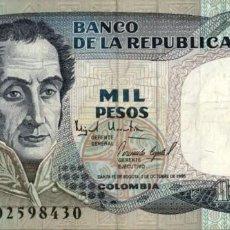 Notas Internacionais: COLOMBIA - BANCO DE LA REPÚBLICA - 1000 PESOS - 1995 - PICK 438. Lote 202619940