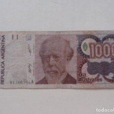 Billetes extranjeros: ARGENTINA. BILLETE DE 1000 AUSTRALES. Lote 227257625