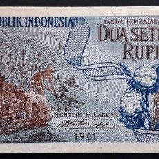 Billetes extranjeros: INDONESIA BILLETE DE 1/2 RUPIAS DE 1961 S/C. Lote 214010175