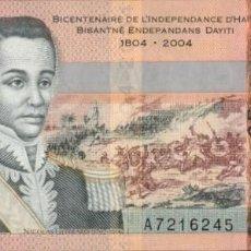 Notas Internacionais: HAITI - RÉPUBLIQUE D'HAÏTI - 25 GOURDES - 2004 - PICK 273 - BICENTENNIAL OF INDEPENDENCE OF HAITI. Lote 202731731