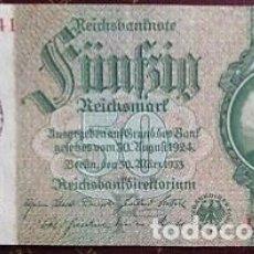 Billetes extranjeros: RARO BILLETE NAZI RESELLO CAMPO JUDÍO.. Lote 203007832