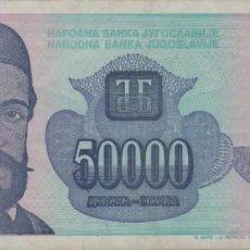 Notas Internacionais: YUGOSLAVIA 50000 DINARA 1993 EBC+. Lote 203055642