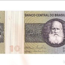 Billetes extranjeros: BILLETE DE 10 CRUZEIROS DE BRASIL DE 1980. SC. WORLD PAPER MONEY-193E (BE686). Lote 203116536