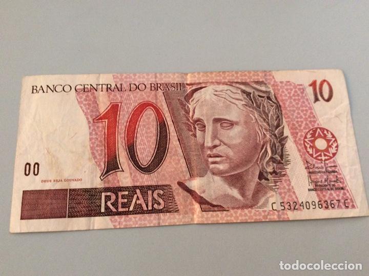10 REAIS BRASIL (Numismática - Notafilia - Billetes Extranjeros)