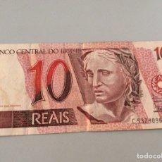 Billetes extranjeros: 10 REAIS BRASIL. Lote 203149292