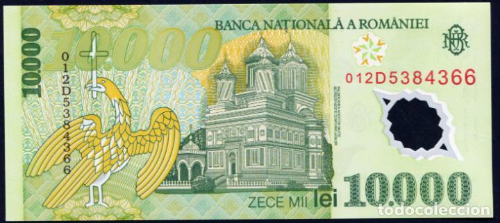Billetes extranjeros: RUMANIA: 10000 LEI 2000 S/C PICK 112 PLASTICO - Foto 2 - 276801233