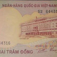 Notas Internacionais: VIETNAM DEL SUR 200 DONG 1972 P33A NUEVO UNC SC. Lote 203359265