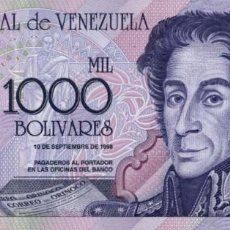 Notas Internacionais: VENEZUELA - 1000 BOLÍVARES - 1998 - PICK 79. Lote 203787582