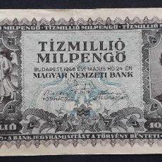 Notas Internacionais: HUNGRIA BILLETE DE 10000000- 10 MILLONES PENGÓ DE 1946. Lote 203872636