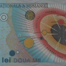 Notas Internacionais: RUMANIA 2000 LEI 1999 ECLIPSE S/C. Lote 204316552
