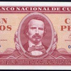 Billetes extranjeros: CUBA - 100 PESOS 1961 FIRMADOS POR EL CHE PICK 99 - PERFECTO SIN CIRCULAR. Lote 204794115