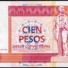 Billetes extranjeros: CUBA - 100 PESOS CONVERTIBLES 2006 - PERFECTO - SIN CIRCULAR. Lote 204794577